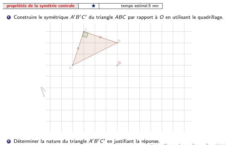 compléter figure centre symétrie